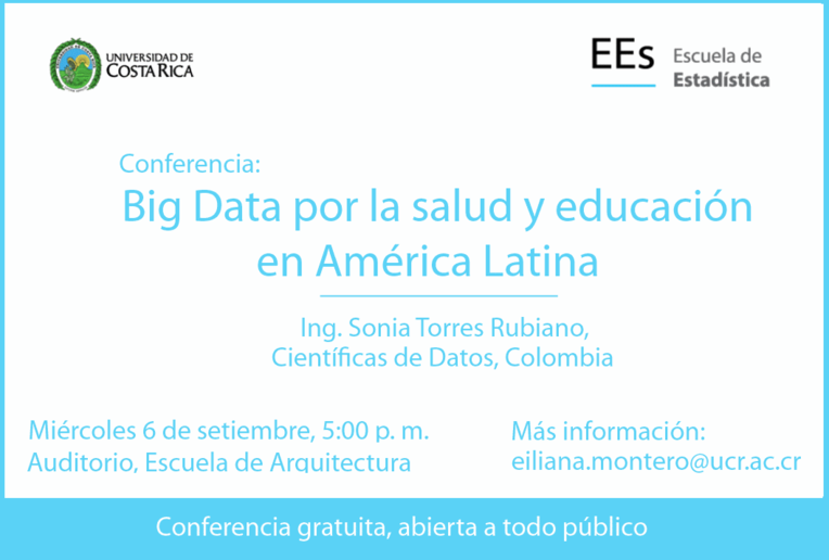 Conferencia Pública: Big Data por la salud y educación de América Latina