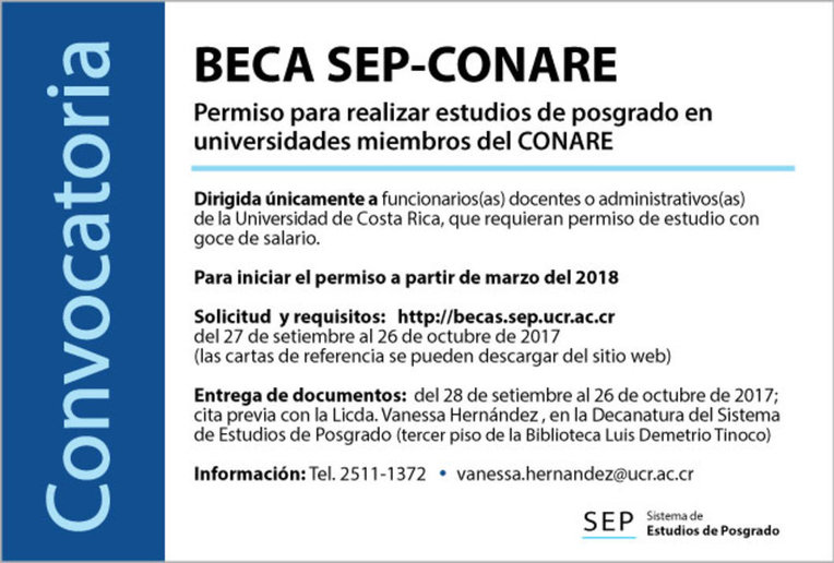 Becas: Beca SEP-CONARE