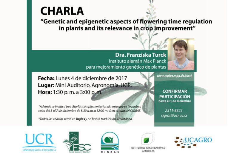 Charla: Genetic and epigenetic aspects of flowering time regulation  in plants and its relevance …