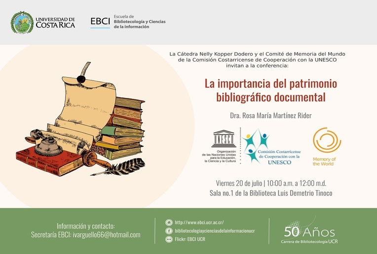 Conferencia: La importancia del patrimonio bibliográfico documental