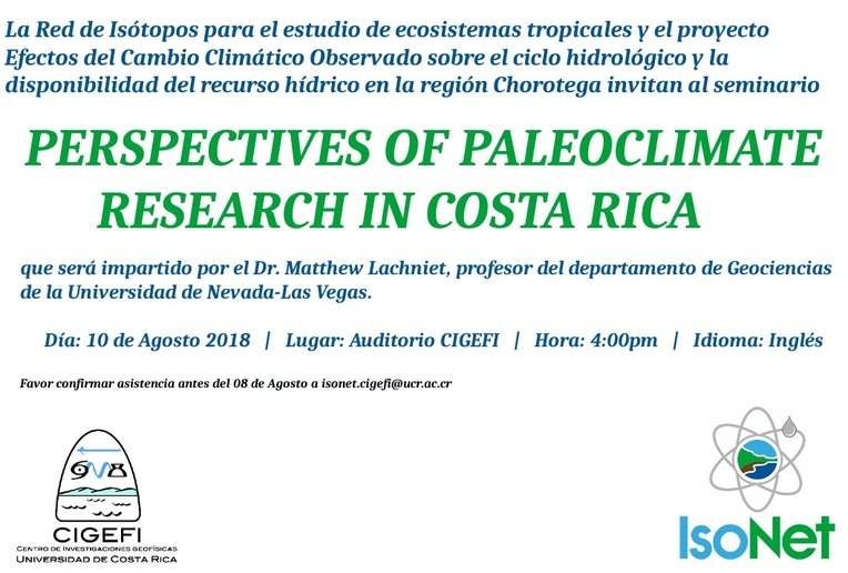 Perspectives of Paleoclimate research in Costa Rica