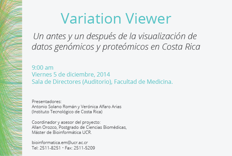 Conferencia: Variation Viewer: Un antes y un después de la visualización de datos genómicos y …