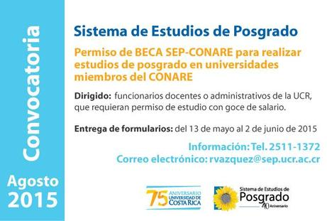 Convocatoria BECA SEP-CONARE