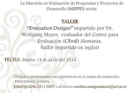 Taller: Evaluation designs