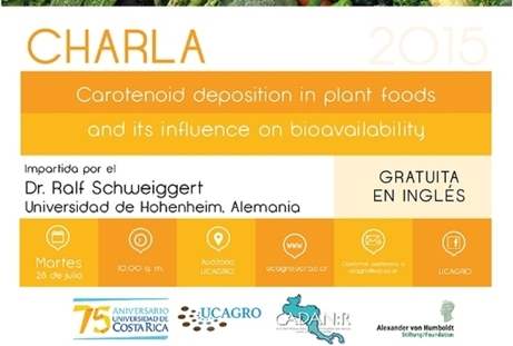Conferencia: Carotenoid deposition in plant foods and its influence on bioavailability