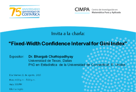 Conferencia: Fixed-Width Confidence Interval for Gini Index