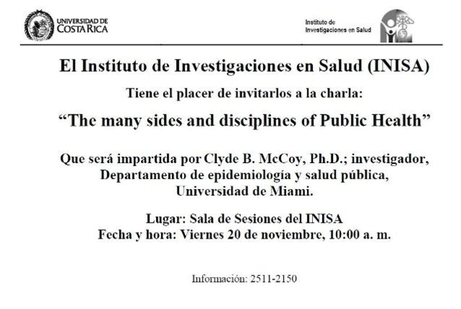 Conferencia: The many sides and disciplines of Public Health