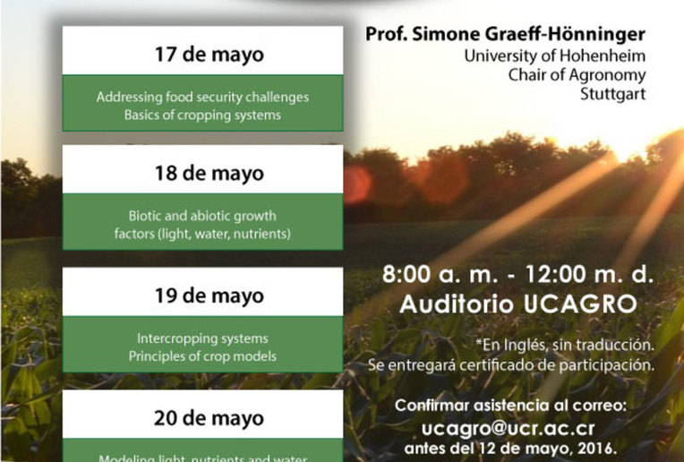 Cursos: Model-based Assessment of Cropping Systems and Food Security
