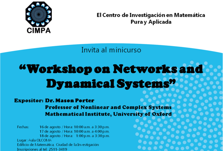 Cursos: Workshop on Networks and Dynamical Systems