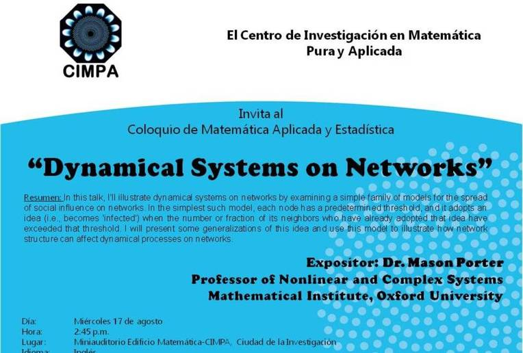 Coloquio: Dynamical Systems on Networks