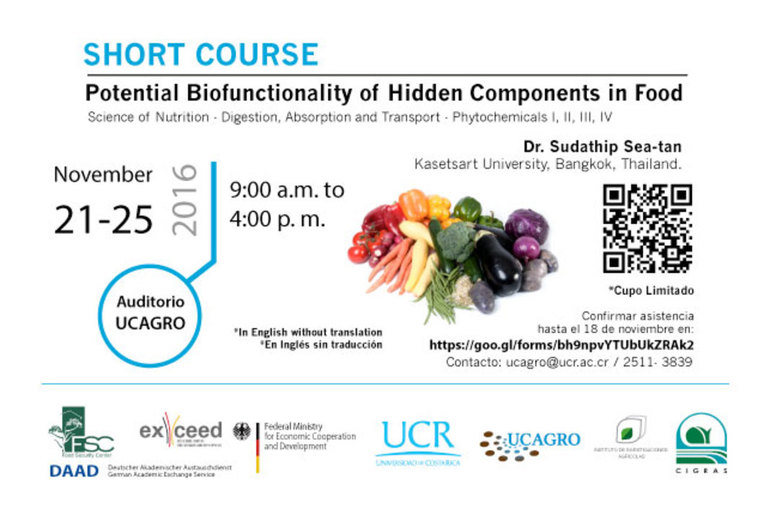 Cursos: Short Course: Potential Biofunctionality of Hidden Components in Food