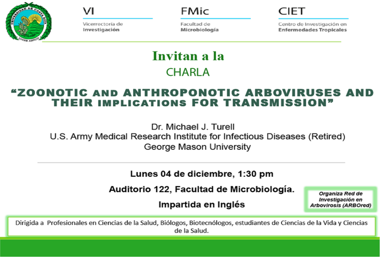 Charla: Zoonotic and anthroponotic arboviruses and their implications for transmission
