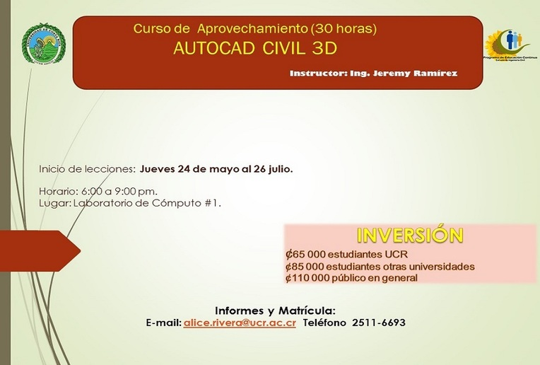 Cursos: AUTOCAD CIVIL 3D