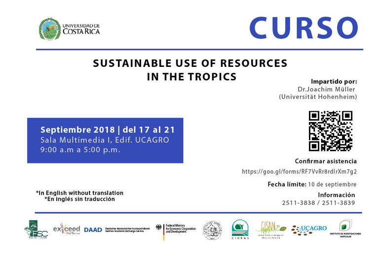 Cursos: Sustainable use of resources in the Tropics