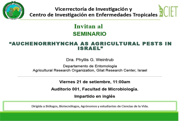 Seminario: Auchenorrhyncha as Agricultural Pests in Israel