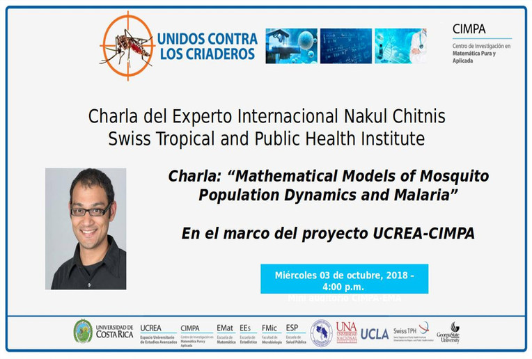 Charla: Mathematical Models of Mosquito Population Dynamics and Malaria