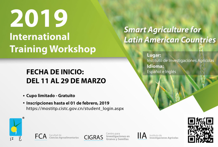"""International training Workshop 2019 """"Smart Agriculture for Latin American Countries"""""""