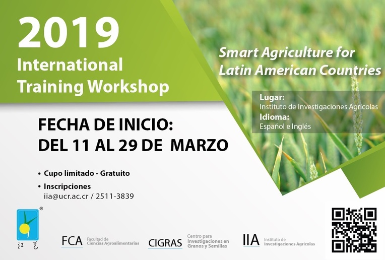 "Seminario: 2019 International Training Workshop ""Smart Agriculture for Latin American …"
