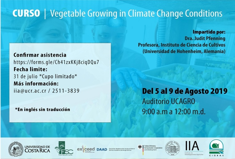 Cursos: Vegetable Growing in climate Change Conditions