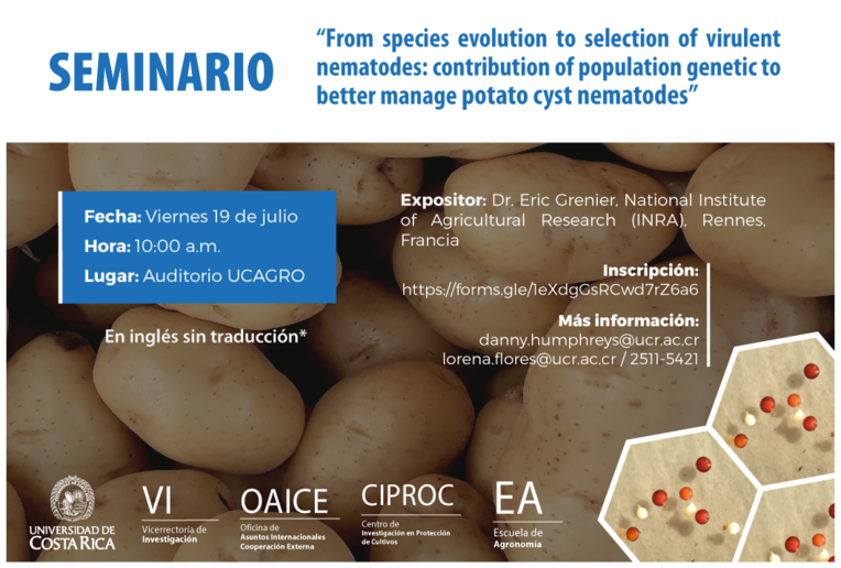 Seminario: From species evolution to selection of virulent nematodes: contribution of population …
