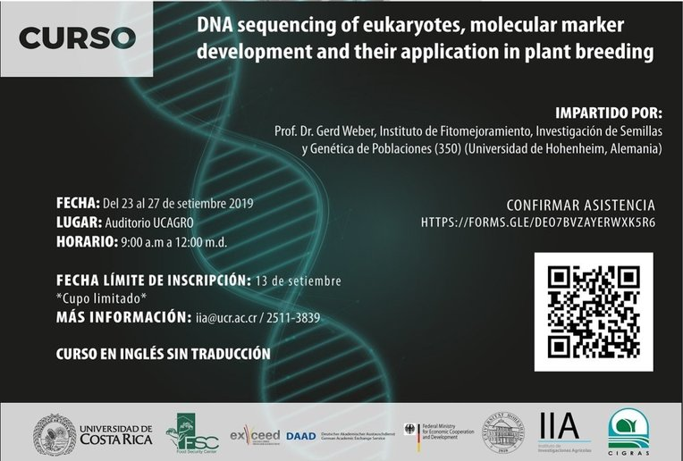 Cursos: DNA sequencing of eukaryotes, molecular marker development and their application in plant …