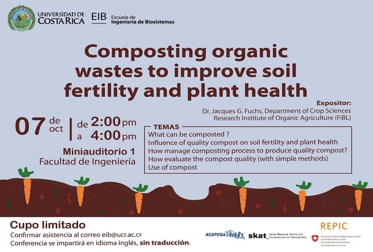 Conferencia: Composting organic wastes to improve soil fertility and plant health