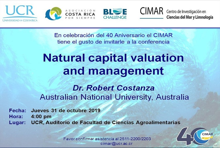 Conferencia: Natural capital valuation and management