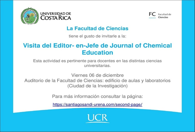 Visita del Editor en Jefe de Journal of Chemical Education