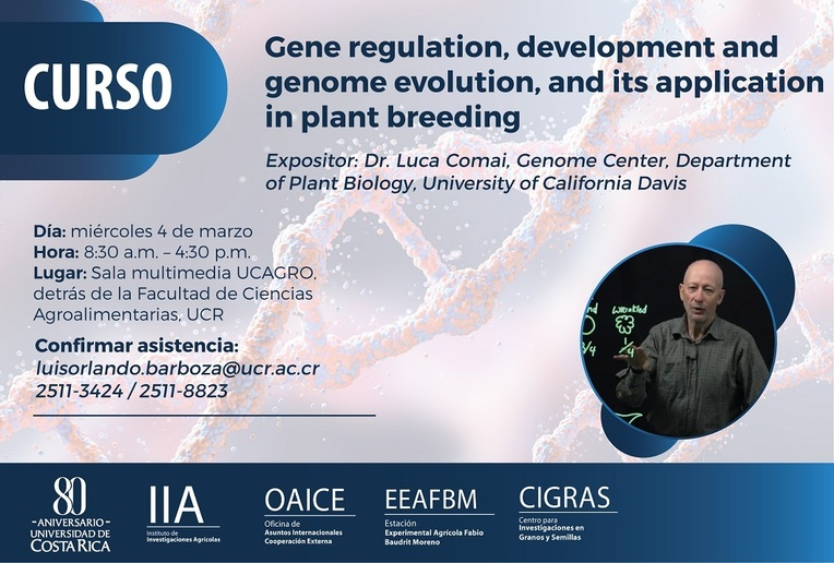 Cursos: Gene regulation, development and genome evolution, and its application in plant breeding