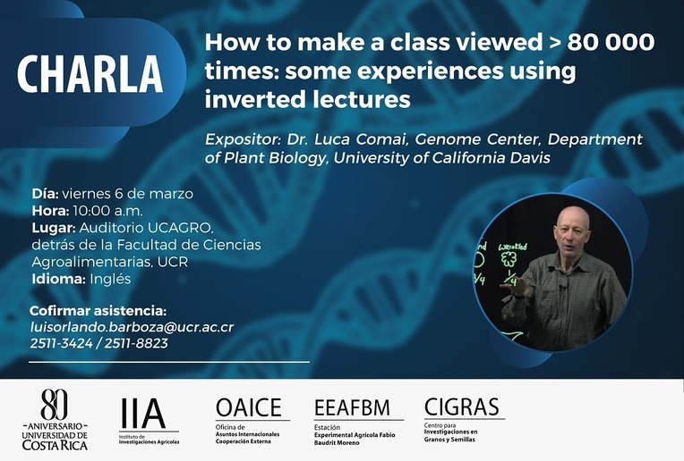 Charla: How to make a class viewed > 80 000 times: some experiences using  inverted lectures