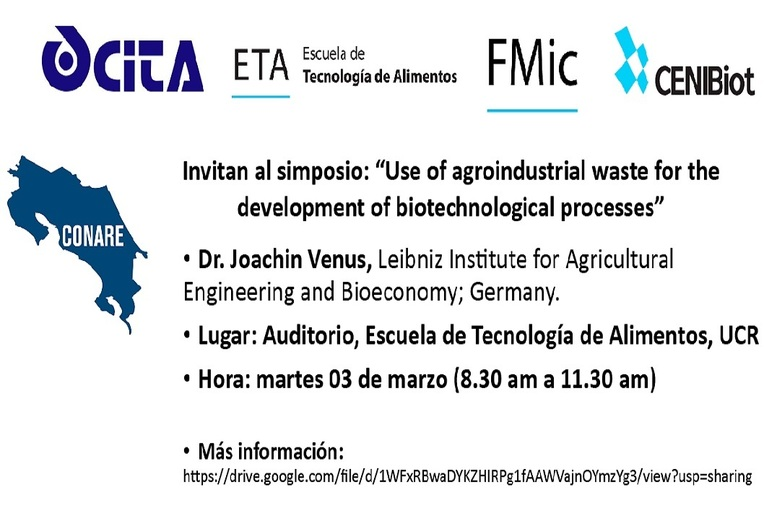 Simposio: Use of agroindustrial waste for the development of biotechnological processes