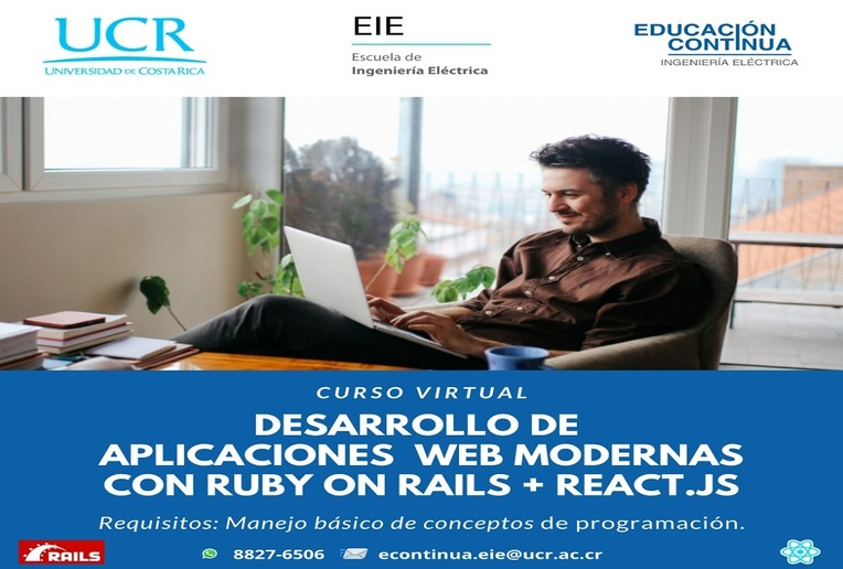 Cursos: Desarrollo de aplicaciones web modernas con Ruby on rails + React.js