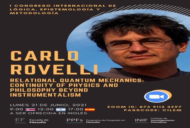 Conferencia: Relational Quantum Mechanics: Continuity of phisics and philosophy beyond …