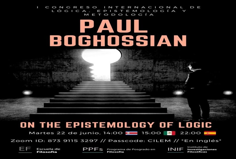 Conferencia: On the epistmology of logic