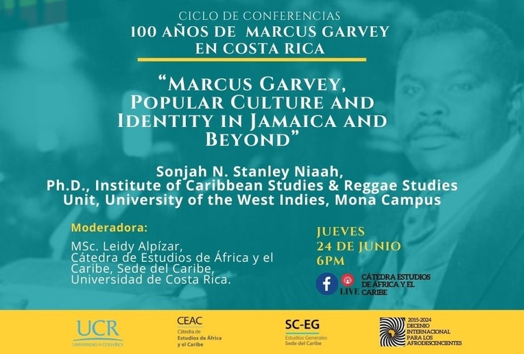 Conferencia: Marcus Garvey, Popular Culture and Identity in Jamaica and Beyond